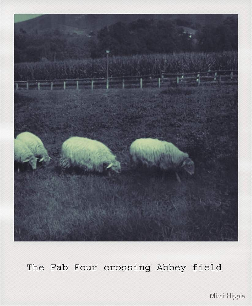 The Fab Four crossing Abbey field by MitchHippie