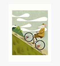 Hamster Cyclist Road Bike Poster Art Print