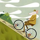 Hamster Cyclist Road Bike Poster by Gregorilla