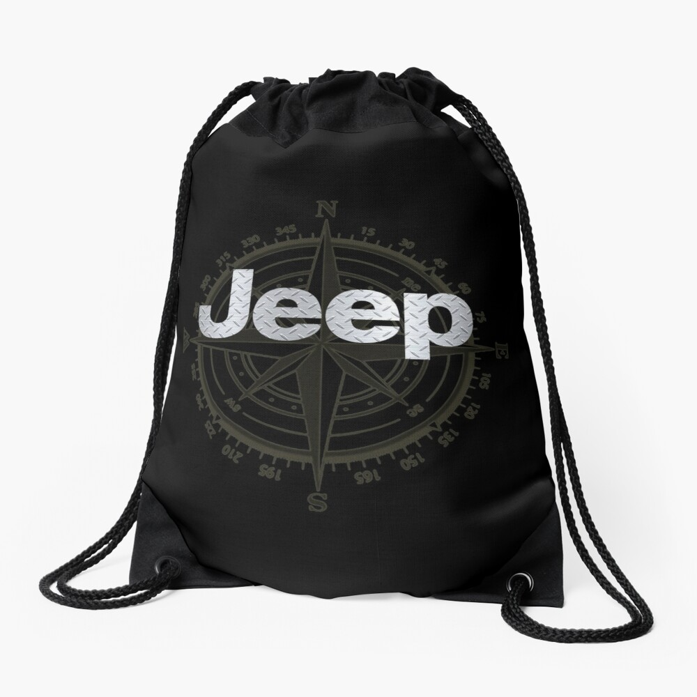 Jeep Diamond Plate Drawstring Bag