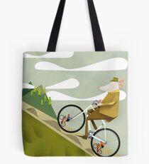 Hamster Cyclist Road Bike Poster Tote Bag