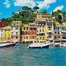 Portofino Italy, The Fishing Village Oil by BodyIllumin