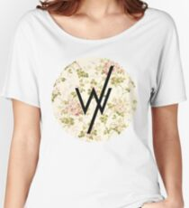 Sleeping With Sirens(flower background) Women's Relaxed Fit T-Shirt