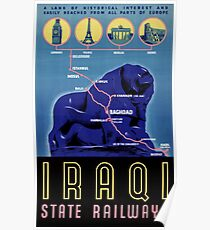 Iraq Vintage Travel Poster Restored Poster