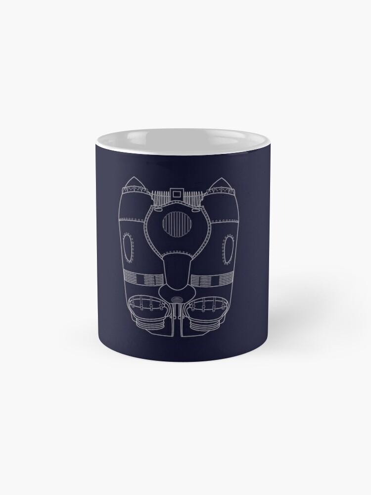 Alternate view of Rocketeer Rocket Jetpack Schematics  Mug
