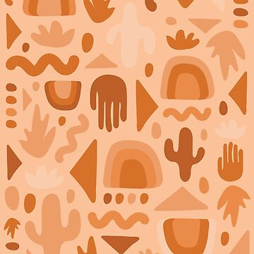 Orange Cutout Print by doodlebymeg