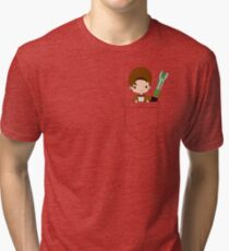 Pocket Who! (Eleventh Doctor) Tri-blend T-Shirt
