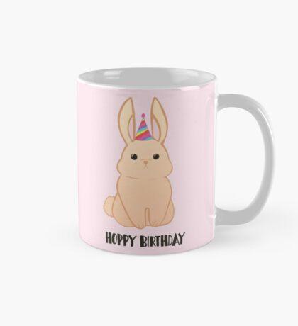Rabbit Birthday - Happy Birthday - Hoppy Birthday - Rabbit - Bunny - Pun - Birthday Pun - Rabbit Pun - Party - Cute - Adorable Mug