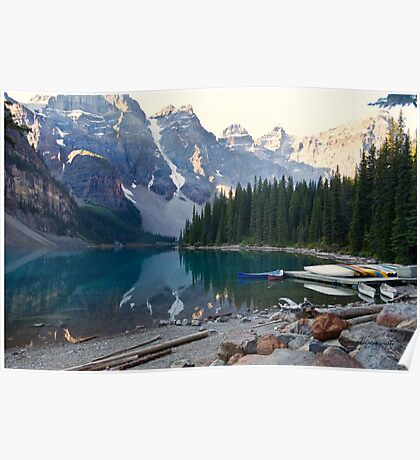 Lake Moraine – Banff National Park, Alberta, Canada Poster