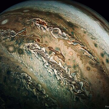 Dolphin-Shaped Cloud Swims Across Jupiter  by znamenski