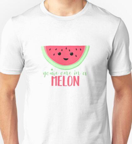One in a MELON - Melon Pun - One in a million - Valentines Day Pun - Anniversary Pun - Birthday Pun - Fruit Pun  T-Shirt
