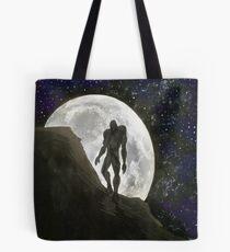 Beast at Full Moon Tote Bag