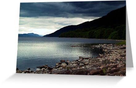 Overcast At Loch End, Scotland. by Aj Finan