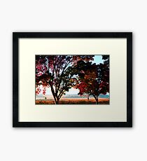 Autumn Sunrise in the Barossa Framed Print