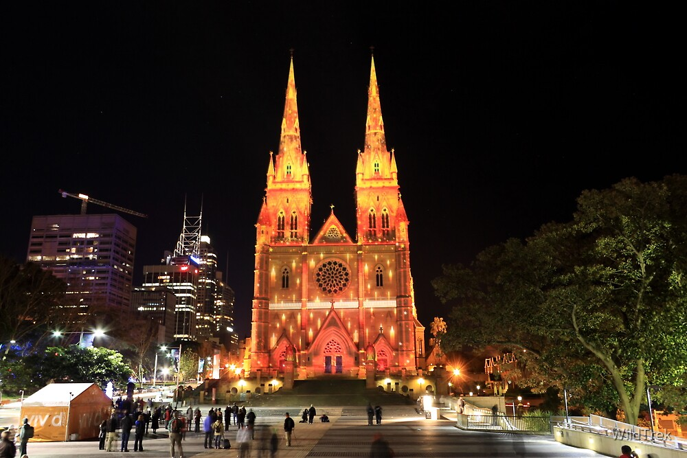 St Marys Cathedral - Vivid 2010 by Mark  Hodges
