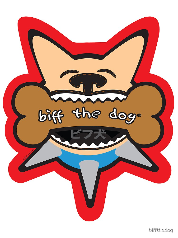 Biff Inu Bites a Bone by biffthedog
