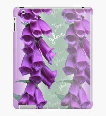 Foxglove Pattern iPad Case/Skin
