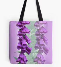 Foxglove Pattern Tote Bag