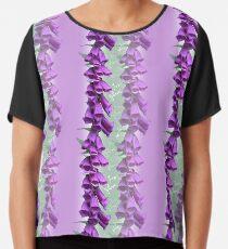 Foxglove Pattern Chiffon Top
