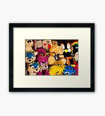 Fluffy Toys Framed Print