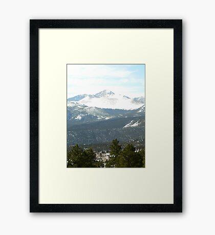 colorado mountain view Framed Print