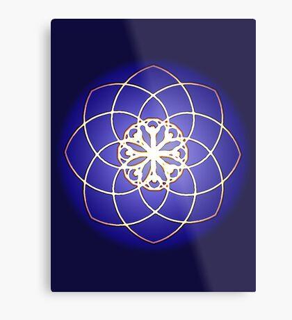 Many hearts - Gold Phi Spiral Metal Print