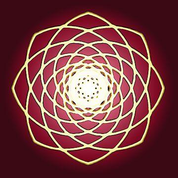 Many hearts, Much Joy! - Gold Phi Spiral by neekos