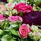 Pinks and Greens Rose Bouquet by BodyIllumin