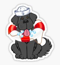 Sailor Newfie Sticker