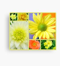 Yellow Flower Collage Canvas Print