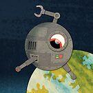 Killer Deathray Eyebot! by orangepeel