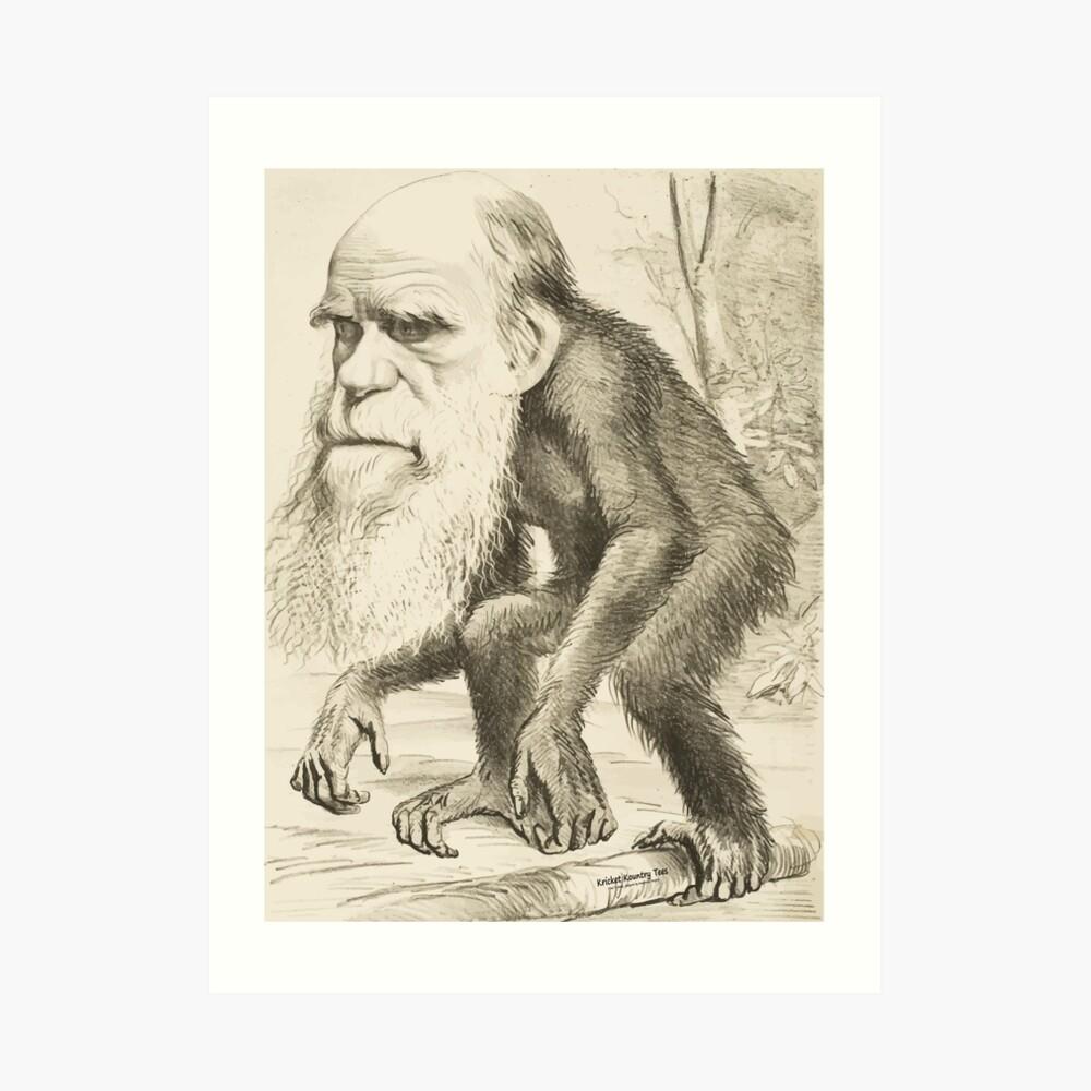 DARWIN:   The Monkey's Uncle! Art Print