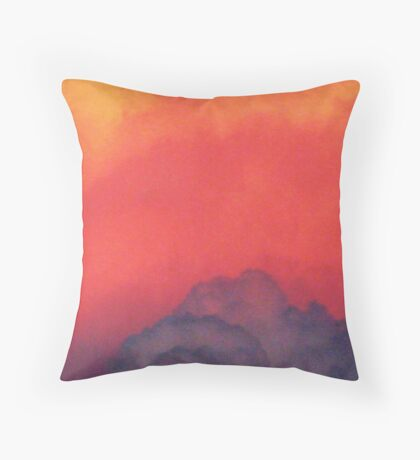 The Color Of Clouds Throw Pillow