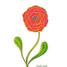 Rosa und orange Blume von CarolineLembke