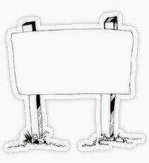 Billboard Sketch Transparent Sticker