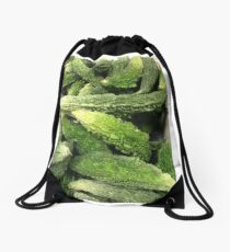 The Dinosaur Melons Are Taking Over! Drawstring Bag