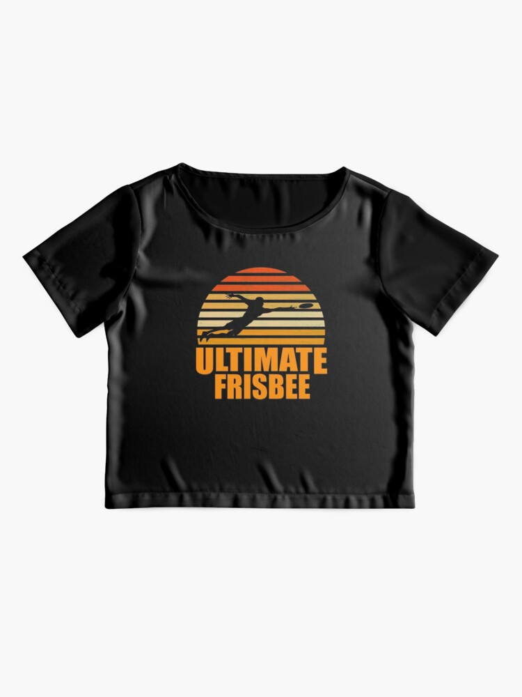 Vista alternativa de Blusa Retro Ultimate Frisbee Player Silhouette