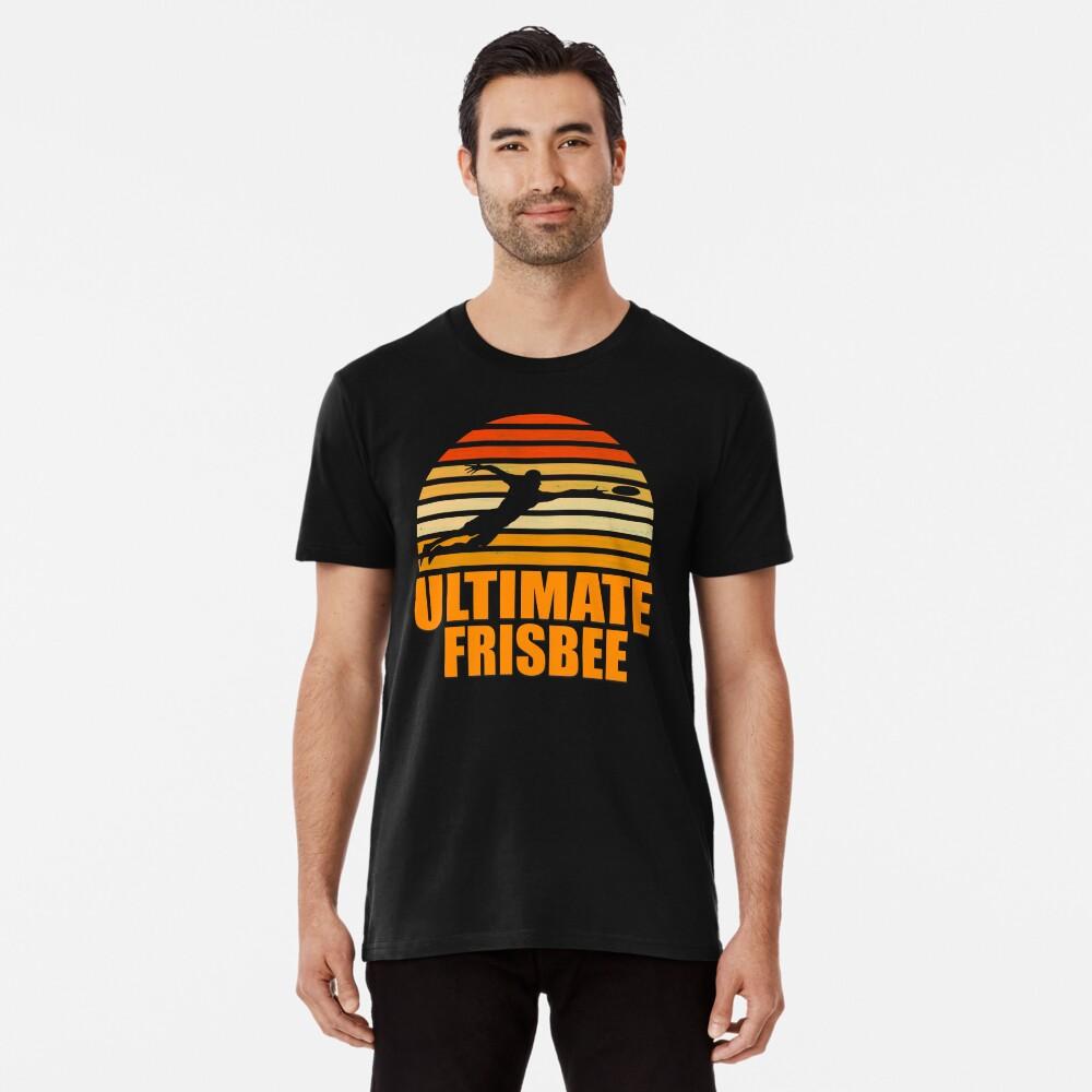 Retro Ultimate Frisbee Player Silhouette Camiseta premium