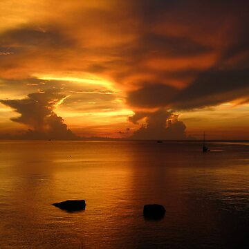 Sunset on Koh Tao by diveseven