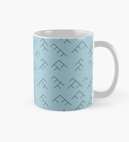 Tree diagram mug - light blue and black Mug