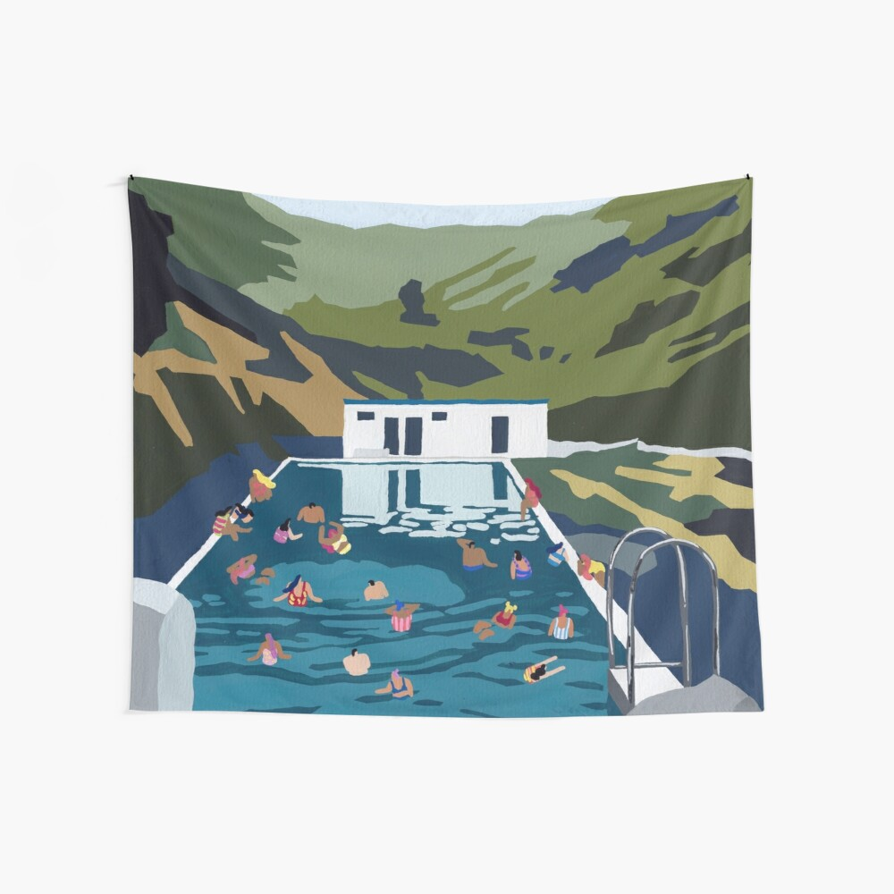 Mountain pool Wall Tapestry