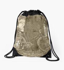 Old Fashion Flare..Vintage bike. Drawstring Bag