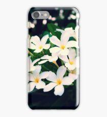White Frangipanis iPhone Case/Skin