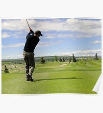 Golf Swing D Poster