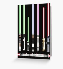 Star Wars Lightsaber Greeting Card