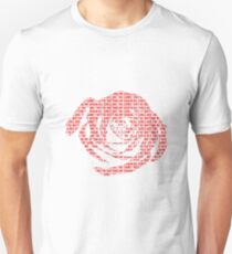 Camiseta ajustada jugo de rosa rosa