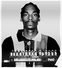 Snoop-Festnahme Mugshot benutzerdefinierte Fan-Art Poster