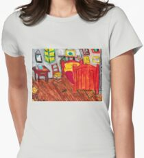 Van Gogh's Room Womens Fitted T-Shirt