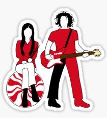 Jack and Meg Sticker