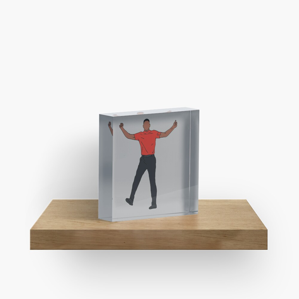 Tiger Woods Celebration Acrylic Block